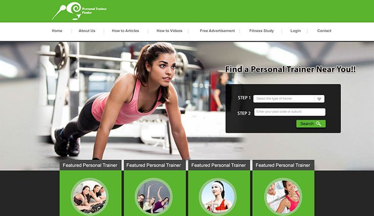 GYM Trainer Portal design