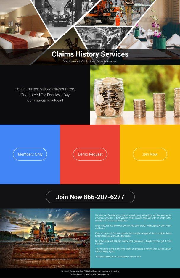 Claim History design